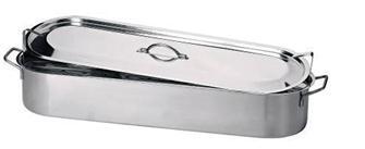 Edelstahl-Fischbräter 60cm