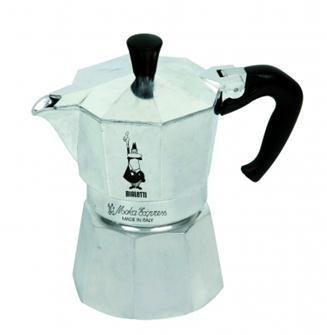 Italienische Kaffeemaschine aus Aluminium für 9 Tassen