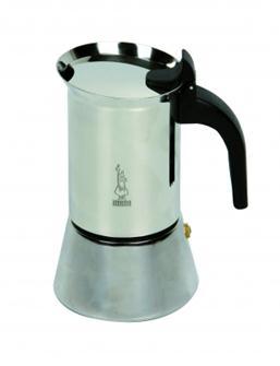Italienische Kaffeemaschine aus Edelstahl für 10 Tassen