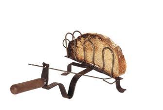 Schmiedeeiserner Kaminrost für Brot