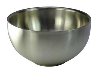 Doppelwandige Edelstahlschüssel, 24 cm