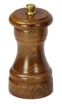 Manuelle Pfeffermühle aus Holz, 10 cm