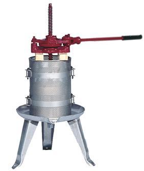 Edelstahl-Spindelpresse mit Ratsche 128 Liter