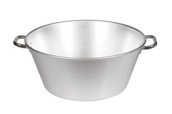 Aluminiumschüssel für Fett und Marmelade 47 Liter