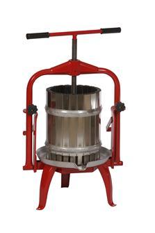 Obstpresse aus Edelstahl mit schwenkbarem Druckwerk, 20 Liter