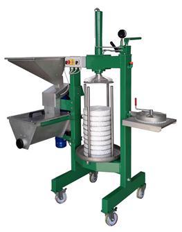 Presse mit Mühle für die Extraktion von Olivenöl