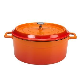 Runder Schmortopf 28cm, orange