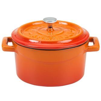 Gusseiserner Mini-Schmortopf 10cm, orange