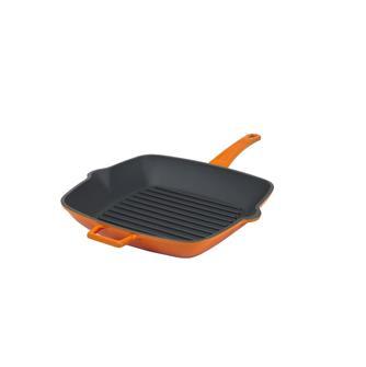 Grillpfanne 26x26cm, Gusseisen, orange