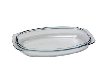 Couvercle en pyrex pour cocotte rectangulaire 48x25 10 l. fonte alu antiadhésive