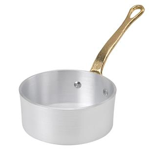 Kochtopf mit Stiel, flach, 10 cm, aus Aluminium