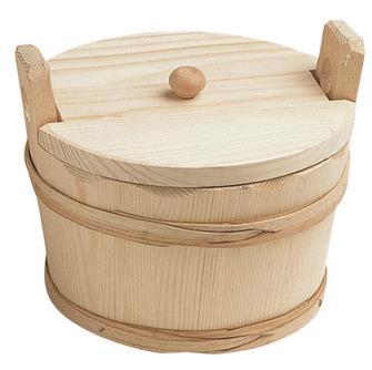 Runder Kartoffelbehälter mit Deckel, 17 cm
