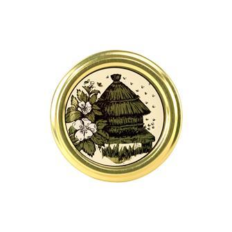 63-mm-Twist-off-Deckel, Honig, Bienenkorb, 10 Stück
