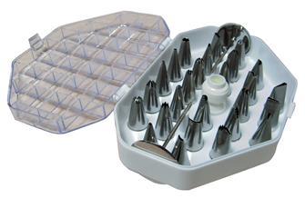 Sortierbox mit 35 Tüllen aus Edelstahl