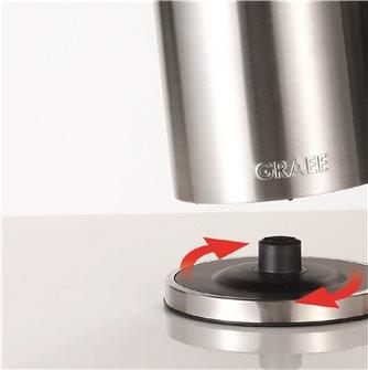 Wasserkocher doppelwandig aus Edelstahl mit Thermostat.
