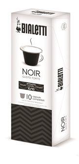 Box mit 10 Kapseln Bialetti Schwarz intensiv geeignet für Nespresso.