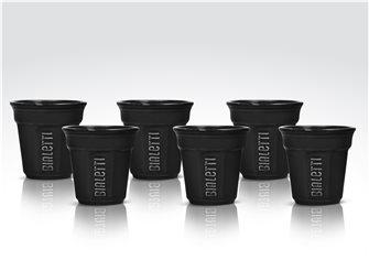 6er Pack Bialetti Tassen schwarz
