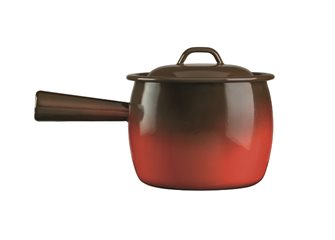 Pot à queue émaillé flamme 20 cm