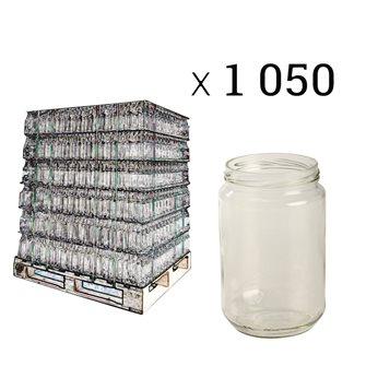 1-kg-Honigglas für Twist-off-Deckel, 12 Stück
