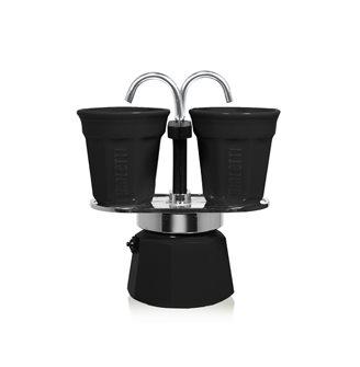 Espressobrunnen für zwei Tassen schwarz