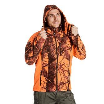 Blouson camouflage orange homme Bartavel Buffalo camo XXL softshell