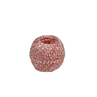 Wurstgarn 200 g für Wurstwaren Naturleine Rot-Weiß Muster