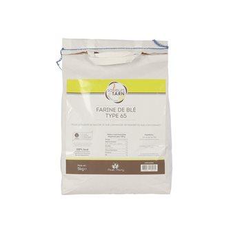 Weizenmehl T65 5 Kg für den alltäglichen Gebrauch, aus kontrollierte Landwirtschaft im Tarn
