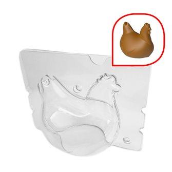 Moule poule en chocolat de pâques 9x7,5x8 cm