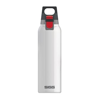 Gourde isotherme inox blanche 0,5 litre avec bouchon filtre manipulable une main Hot & Cold One White Sigg