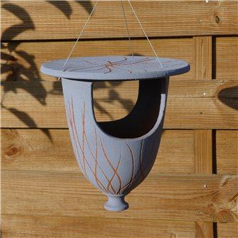 Mangeoire urne pour oiseaux bleu ciel