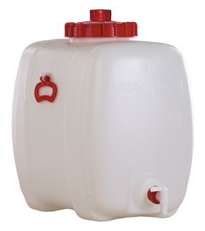 Rechteckiger Lebensmittelbehälter mit einem Fassungsvermögen von 100 Litern.