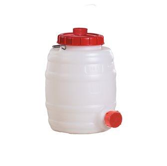 Zylindrisches Fass zur Lagerung von Lebensmitteln, 10 Liter